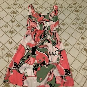Charlette Russe swirl printed sun dress